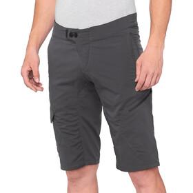100% Ridecamp Pantalones cortos Hombre, charcoal